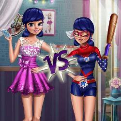 Ladybug Superhero vs Girlie